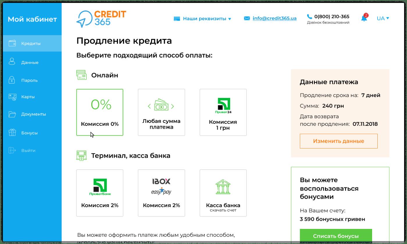 выдача потребительских займов